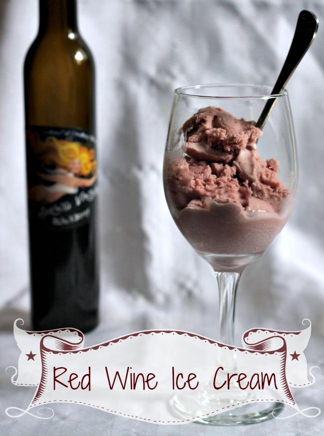 Red Wine Ice Cream