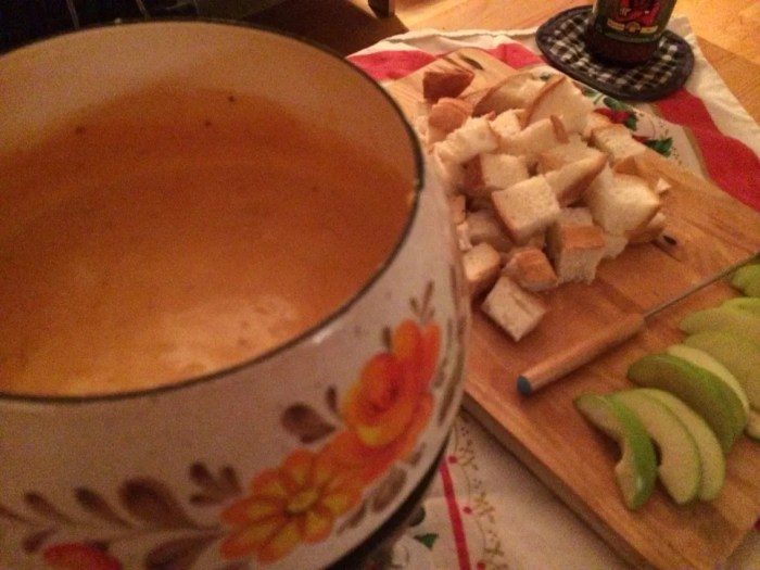 Last year's Christmas Eve fondue.