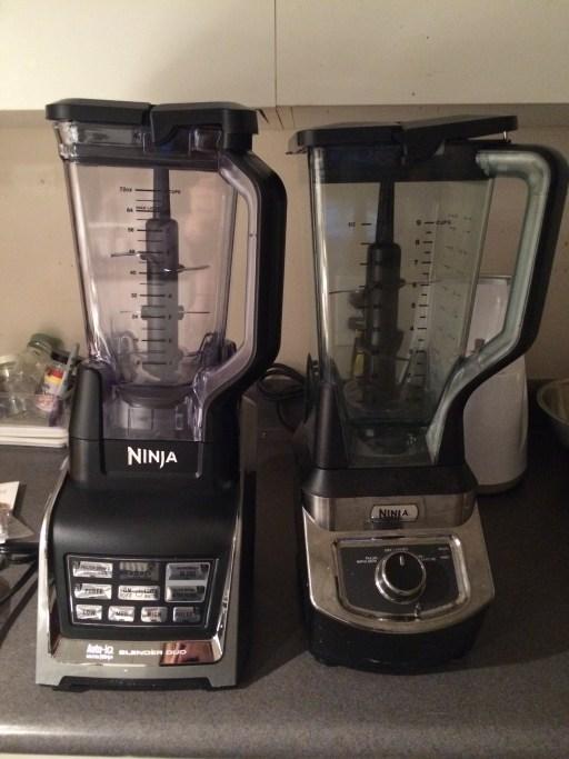 On the right, my old Ninja Pro. On the left, the new Nutri Ninja.