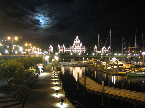 Inner Harbour by Moonlight
