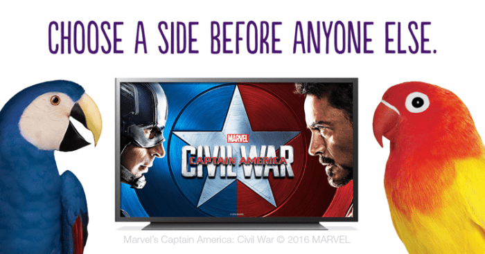captain america civil war telus optik tv