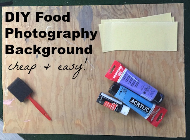 DIY Food Photography Background