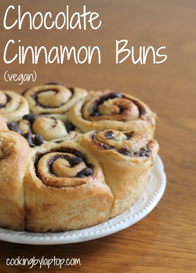 chocolate cinnamon buns (vegan)