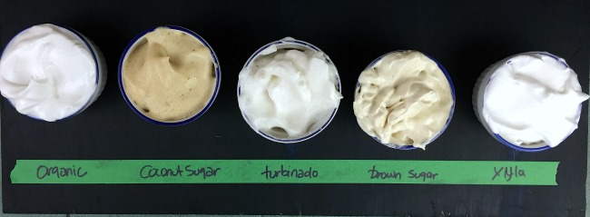 Different Sugars and Aquafaba