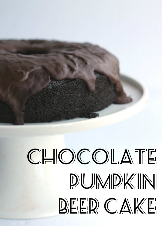 Chocolate Pumpkin Beer Cake Vegan