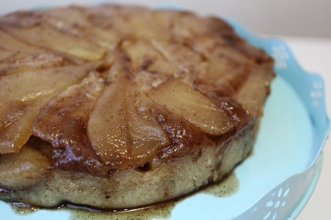Pear Cardamom Upside Down Cake