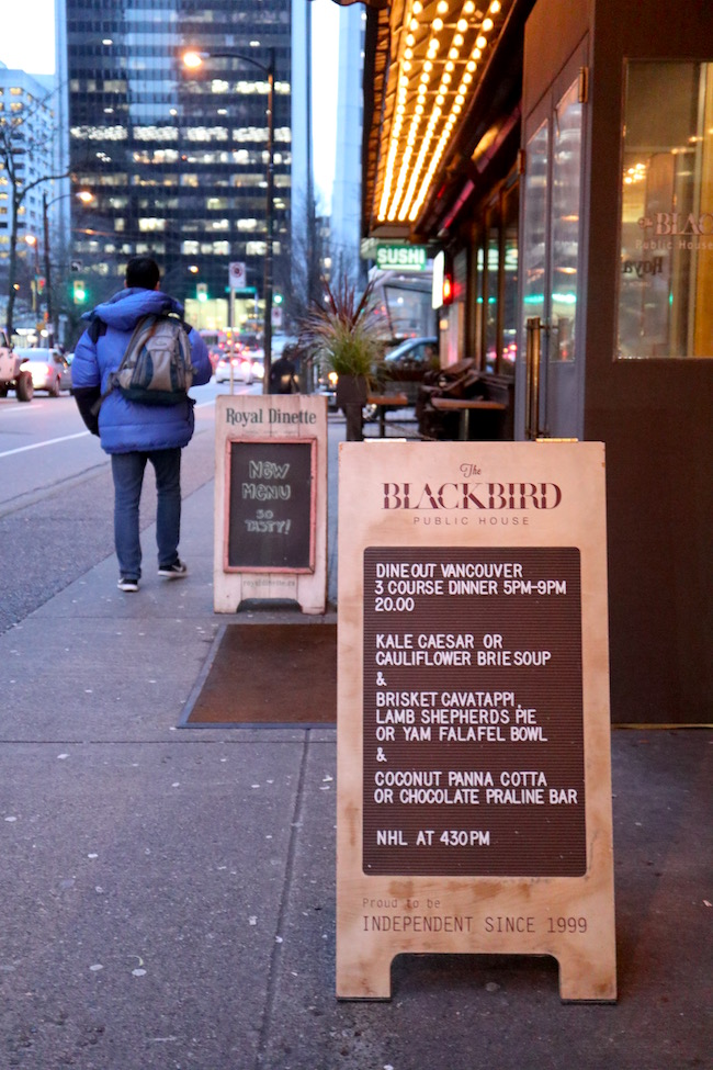 The Blackbird DOVF menu