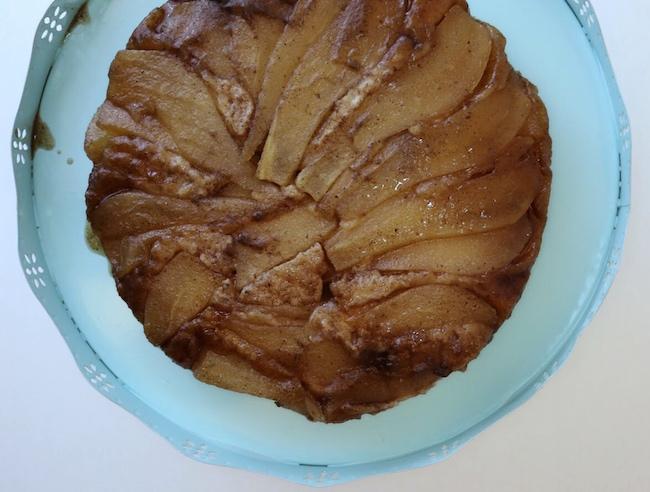 Vegan Pear Cardamom Upside Down Cake
