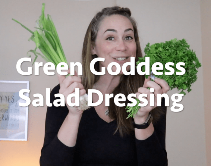 Green Goddess Salad Dressing Vegan