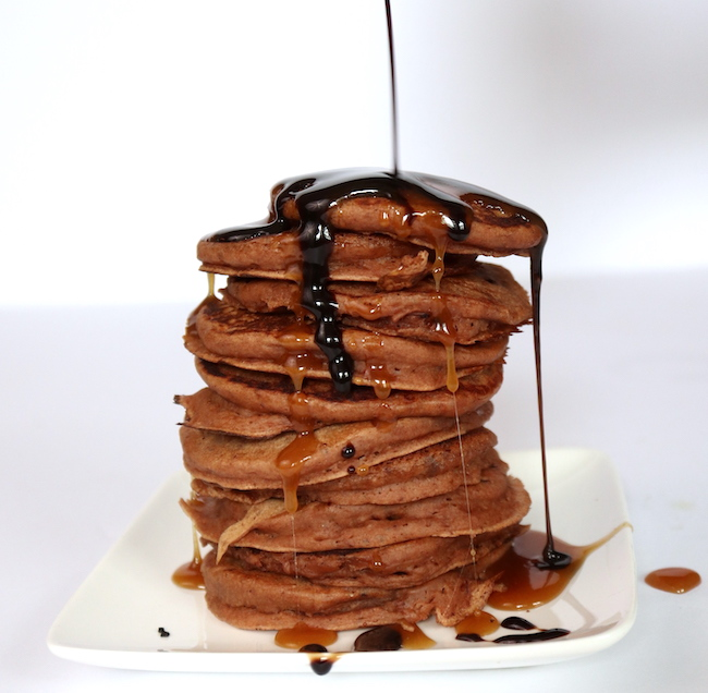 Chocolate Lava Pancakes LivB Vegan on a budget