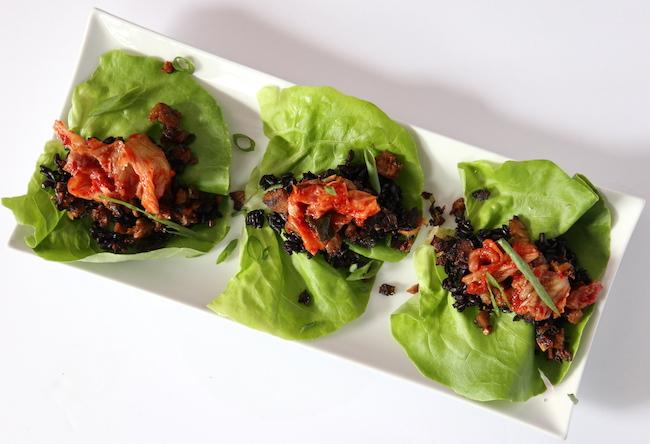Korean Mock Duck Lettuce Wraps