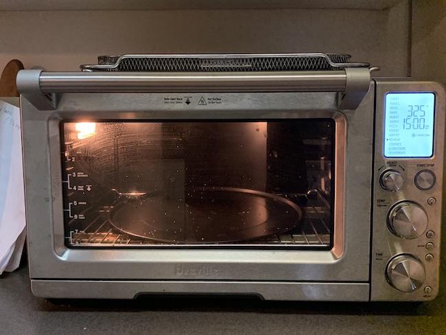 a countertop toaster oven