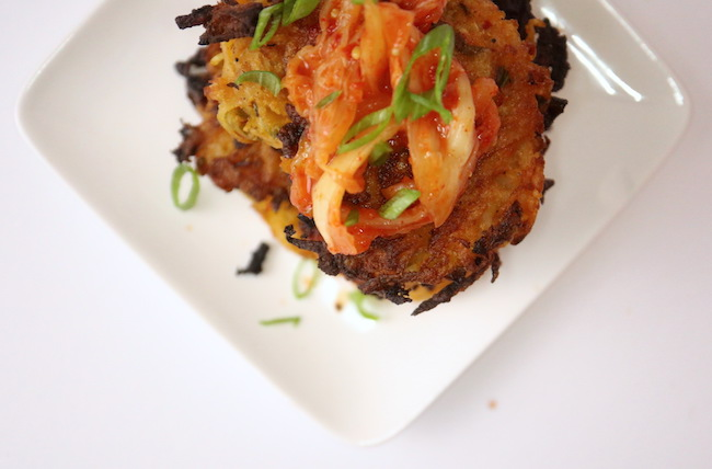 Kimchi Potato Pancakes Vegan