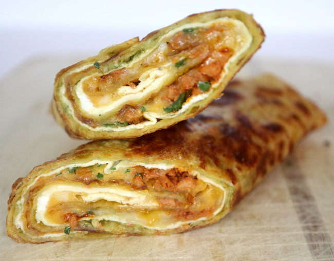 Easy Tortilla Egg Roll Ups