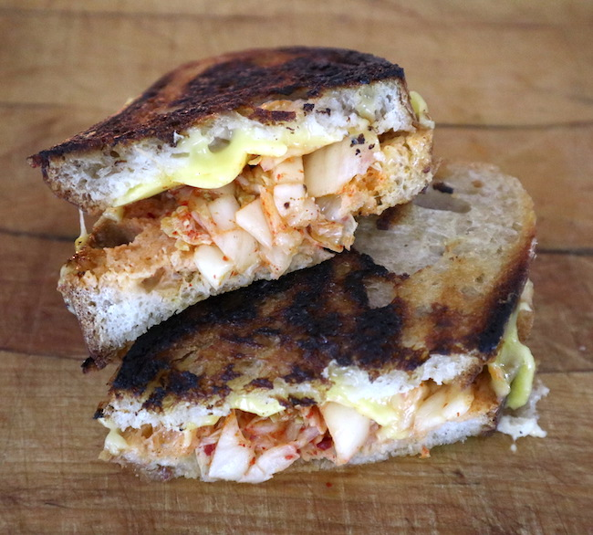 Vegan Kimchi Grilled Cheese