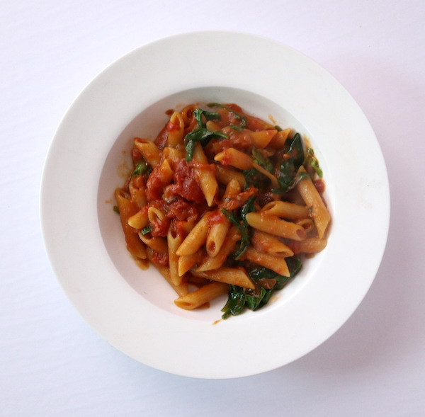 a plate of pasta