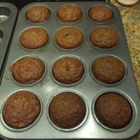 Banana Zucchini Flax Muffins