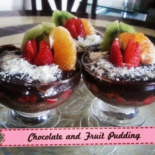 Chocolate and Fruit Pudding