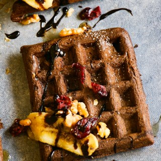 Chocolate Brownies Waffles