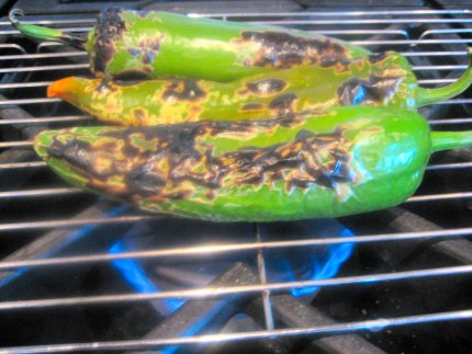 Preparing Chiles