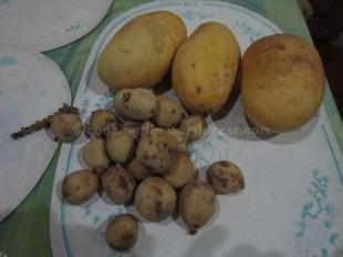 Carabao mangoes & lanzones