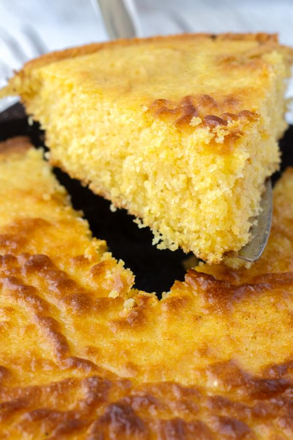 slice of corn bread