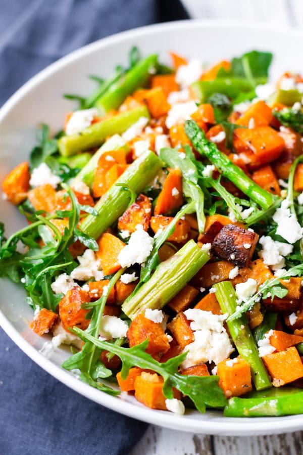roasted veggie salad with feta