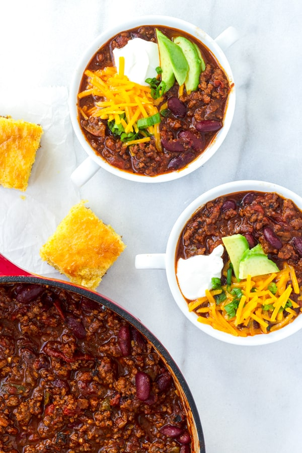 One Pot Beef Chili Recipe with Beer