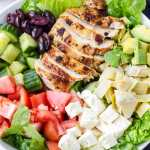 Grilled Chicken Salad with Feta and Olives
