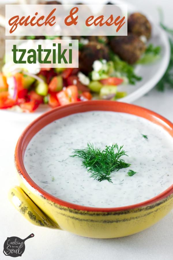 Easy Tzatziki with Dill and Lemon Juice