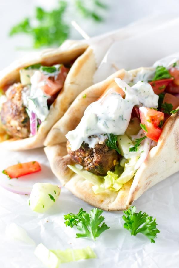 Greek Meatball Gyros