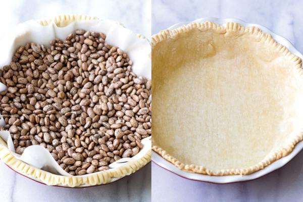 Blind-baking pie crust