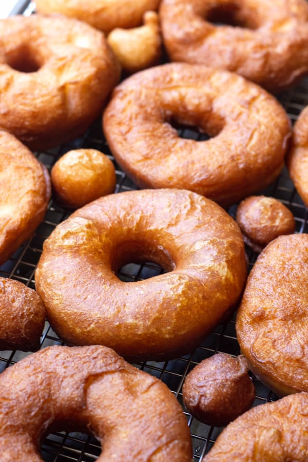A Batch of Plain Deep Fried Donuts or Doughnuts