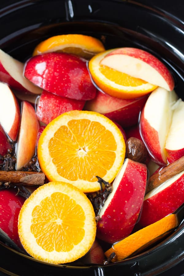 Slow Cooked Apple Cider with Orange