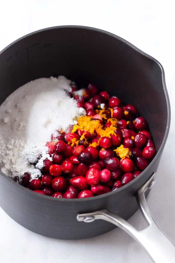 Cooking Cranberries for Crumb Bars