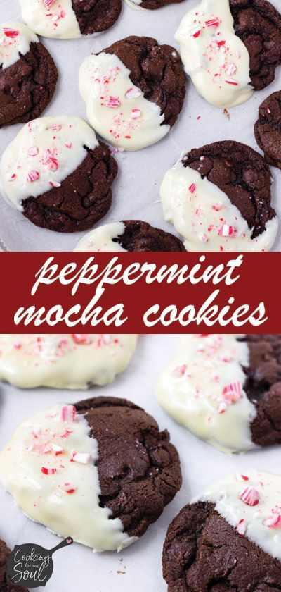 Peppermint Mocha Cookies Make Ahead
