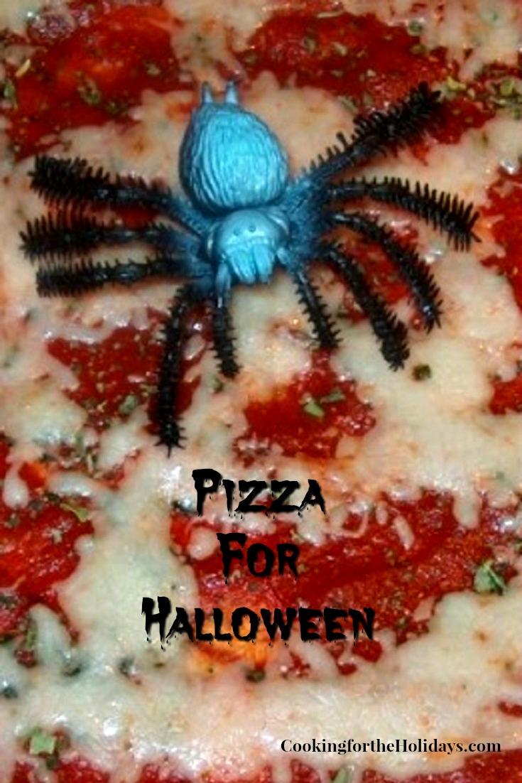 Decorate a Halloween Pizza for Dinner