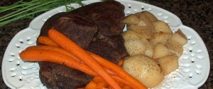 Recipe for Oven Pot Roast with Potatoes & Carrots
