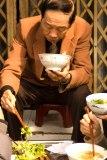 Hanoi, Vietnam: eating pho on the street