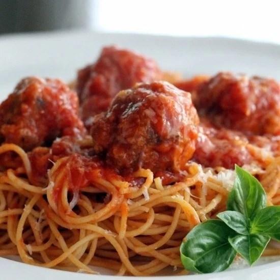 Homemade Spaghetti and Meatballs Recipe