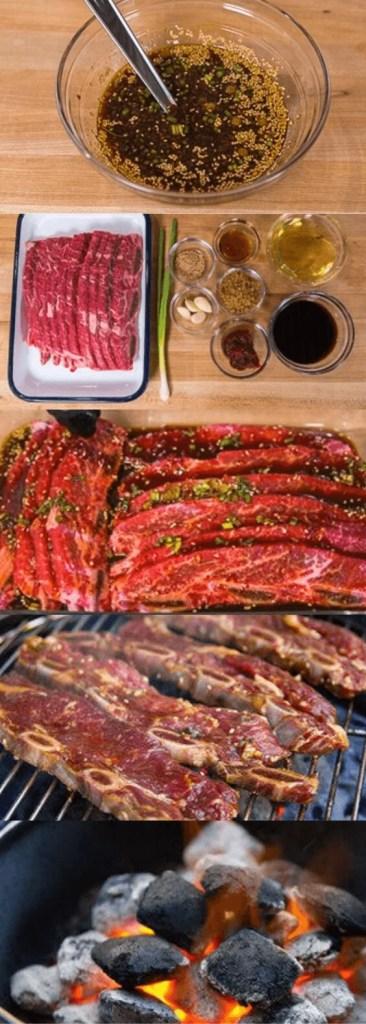 Korean BBQ short ribs marinade ingredients