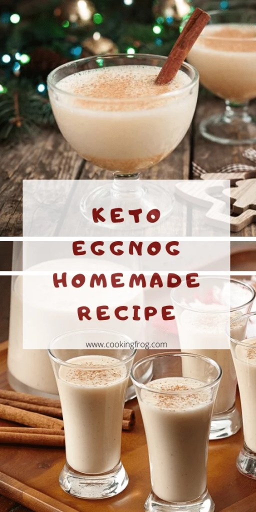 Keto eggnog homemade recipe