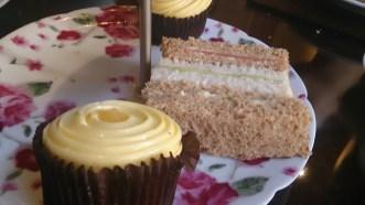 Lemon cupcakes & sandwiches