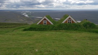 Traditional icelandic houses in Skaftafell