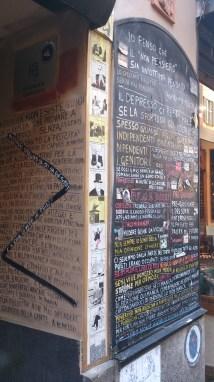 Street poetry nearby San Lorenzo columns