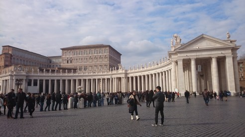 People queuing in front of Vatican