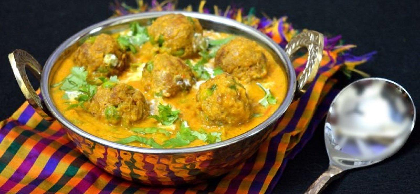 Soya Chunks Kofta Curry | Low Calorie Recipe