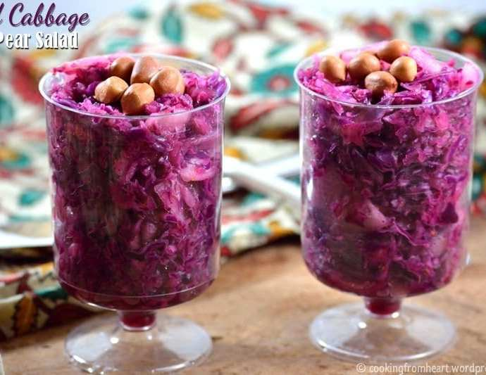 Red Cabbage Pear Salad