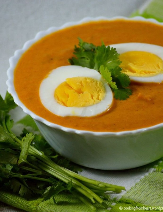 Creamy Egg Curry | Easy Side Dishes for Roti