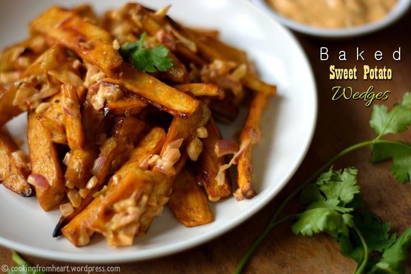 Baked Sweet Potato Wedges   Easy Snack Recipes